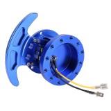 Car Tilt Racing Steering Wheel Quick Release Hub Kit Adapter Body Removable Snap Off Boss Kit (Blue)