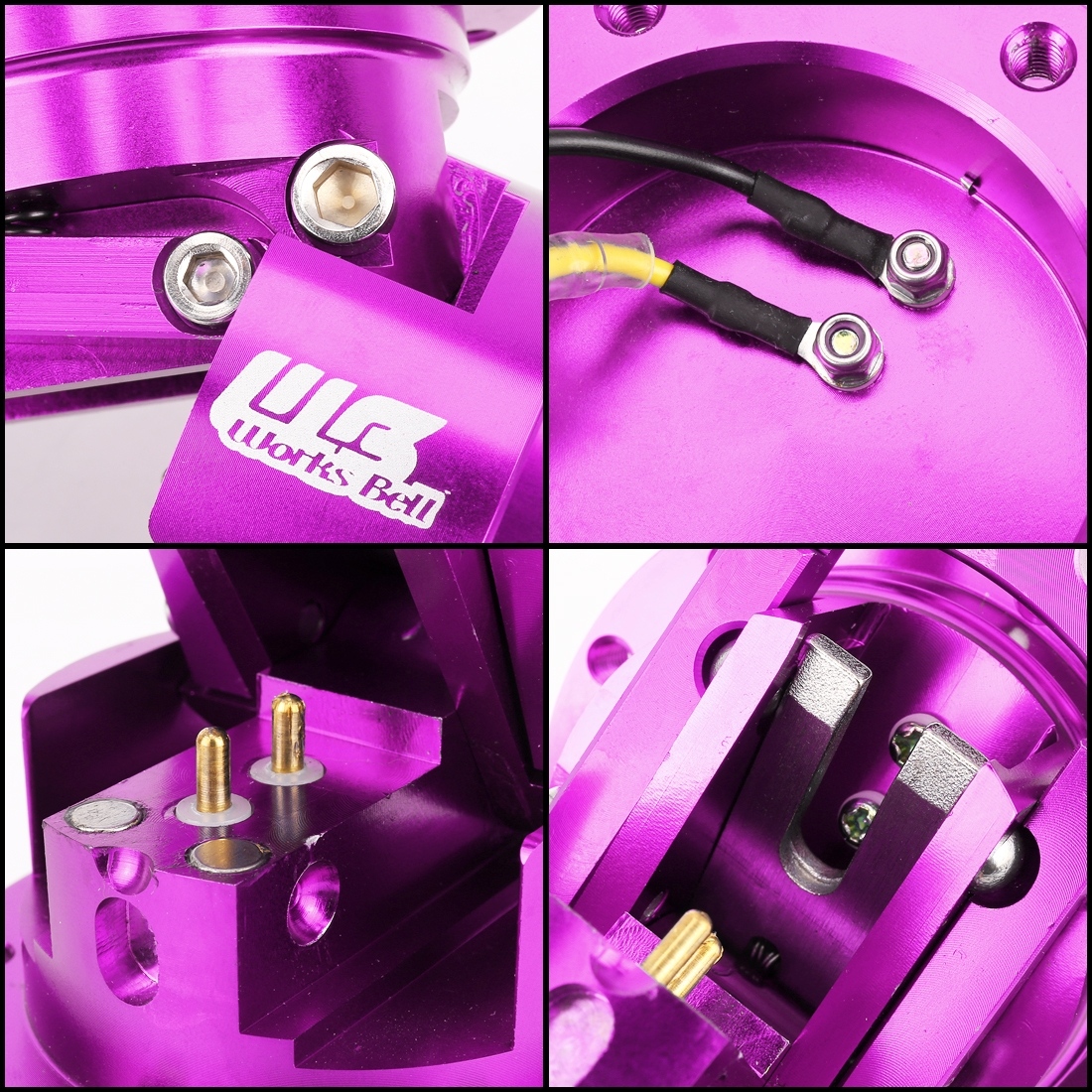 Car Tilt Racing Steering Wheel Quick Release Hub Kit Adapter Body Removable Snap Off Boss Kit (Purple)