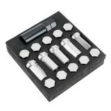 Aluminum Alloy Car Wheel Drive Hub Adaptor Hyper Steel Wheel Nut (Silver)