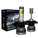 2 PCS H4 / HB2 / 9003 18W 3000LM 6000K IP68 Mini LED Headlight Bulbs High Beam Conversion Kit DC 9-36V (Cool White)