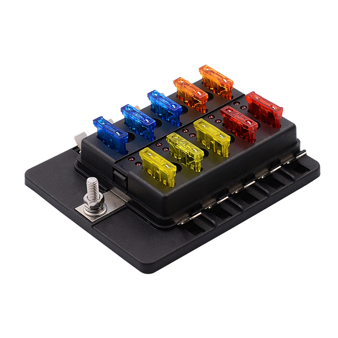 1 in 10 out fuse box pc terminal block fuse holder kits. Black Bedroom Furniture Sets. Home Design Ideas