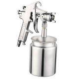 W-77 Paint Spray Gun Sprayer lower Pot Pneumatic Tool for Home Car, Hole diameter: 3mm
