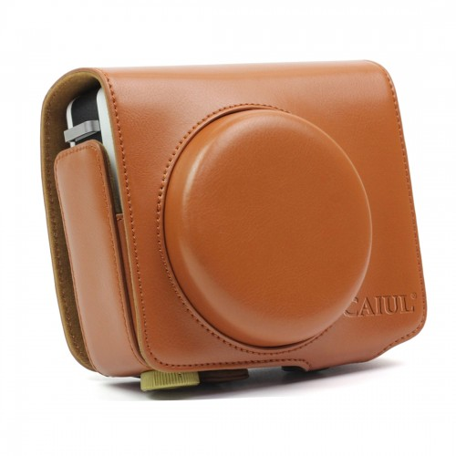 Vintage PU Leather Case Bag for Leica Sofort Camera (Brown)