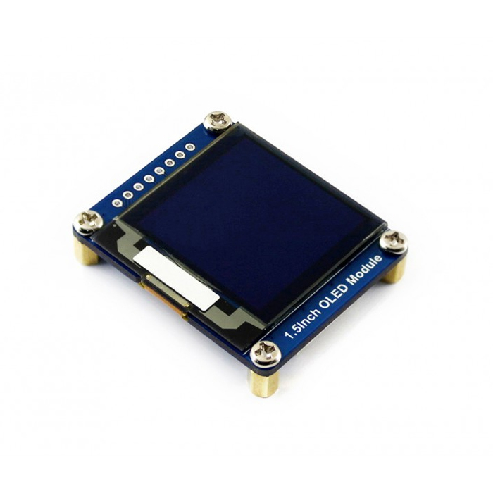 WAVESHARE 128×128 General 1 5inch OLED Display Module 16 Gray Scale with  SPI/I2C Interface