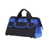 Multi-function Oxford Cloth Electrician Belt Pouch Maintenance Tools Handbag Shoulder Bag Convenient Hardware Tool Bag, Size: 19 inch (Blue)