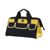Multi-function Oxford Cloth Electrician Belt Pouch Maintenance Tools Handbag Shoulder Bag Convenient Hardware Tool Bag, Size: 14 inch (Yellow)