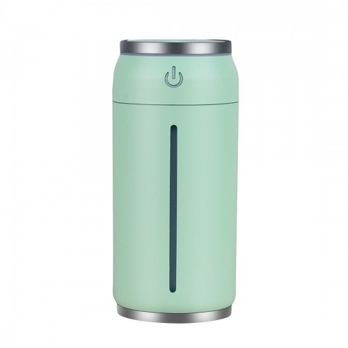 Mini Portable Misty Can Shape Mute Desktop Air Humidifier with Extended USB Port (Green)