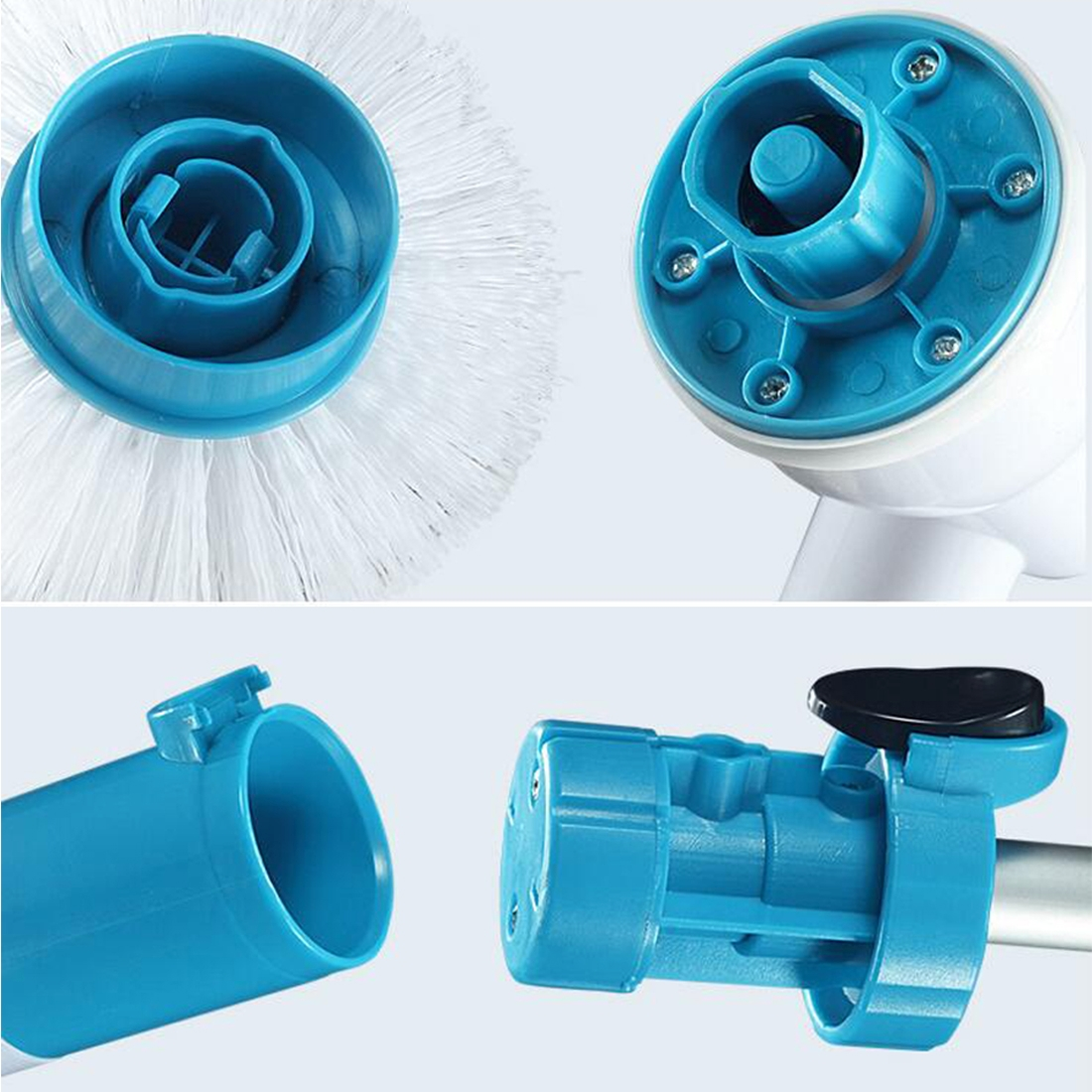 Multi-function Tub and Tile Scrubber Cordless Power Spin Scrubber Power Cleaning Brush Set for Bathroom Floor Wall, EU Plug