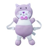 Breathable Purple Cat Pattern Shockproof Head Pad for Baby Children Waliking