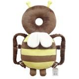 Big Brown Plush Bee Pattern Shockproof Head Pad for Baby Children Waliking