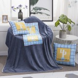 Cactus Pattern Multifunctional Plush Blanket Square Pillow Quilt Office Car Pillow Cushion, Size: M