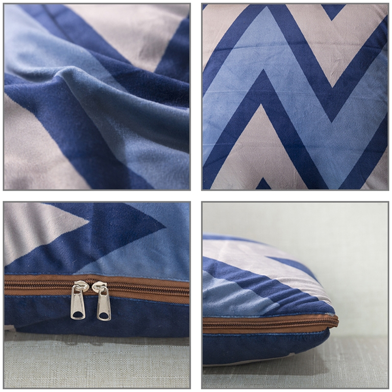 Cactus Pattern Multifunctional Plush Blanket Square Pillow Quilt Office Car Pillow Cushion, Size: M