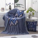 Love Of Life Pattern Multifunctional Plush Blanket Square Pillow Quilt Office Car Pillow Cushion, Size: M
