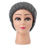 Bluetooth Knit Hat Coarse Wool Cap, Supports Phone Answering & Bluetooth Photo Taking & Music Playing (Grey)