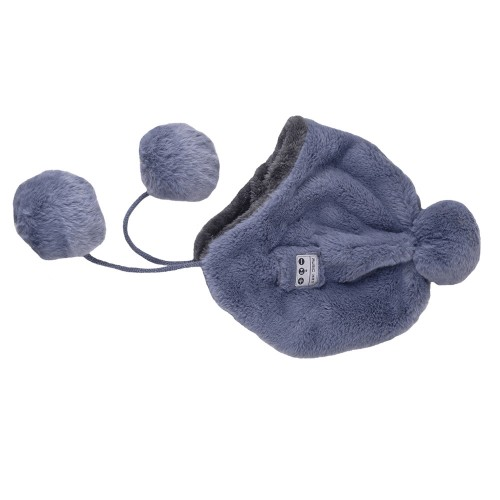Bluetooth Warm Plush Hat, Supports Phone Answering & Bluetooth Photo Taking & Music Playing (Grey)