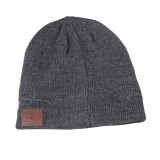 Bluetooth Warm Knit Hat, Supports Phone Answering & Bluetooth Photo Taking & Music Playing (Dark Gray)