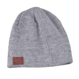 Bluetooth Warm Knit Hat, Supports Phone Answering & Bluetooth Photo Taking & Music Playing (Light Grey)