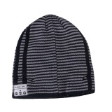Bluetooth Warm Stripe Knit Hat, Supports Phone Answering & Bluetooth Photo Taking & Music Playing