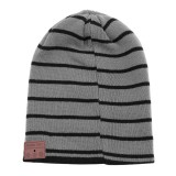 Bluetooth Warm Wide Stripe Knit Hat, Supports Phone Answering & Bluetooth Photo Taking & Music Playing