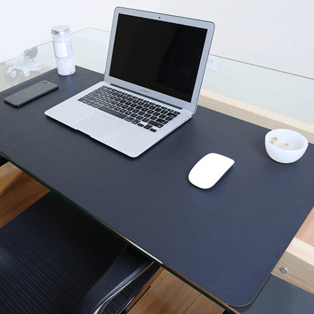 Multifunction Business Double Sided Pvc Leather Mouse Pad