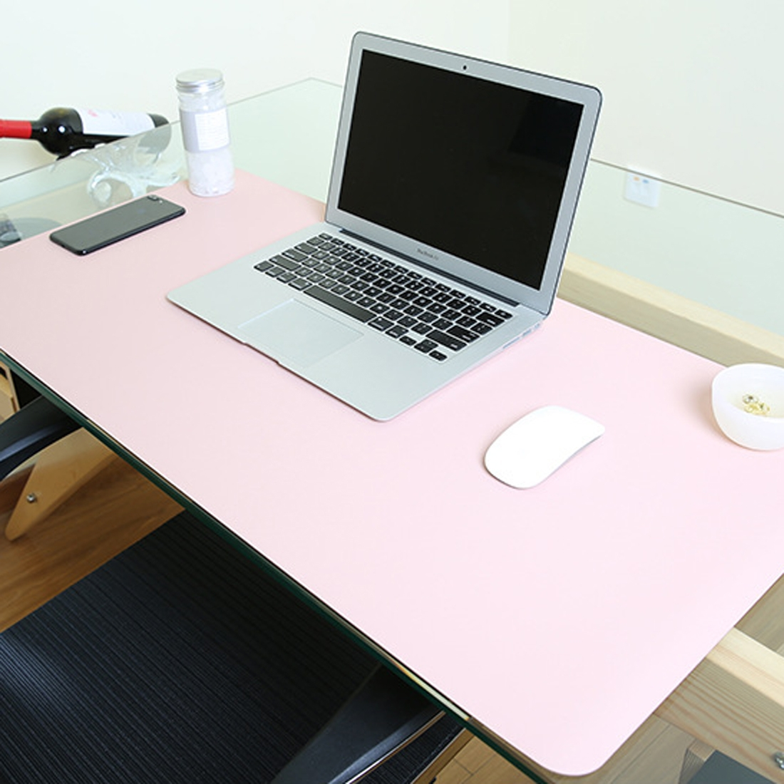 Multifunction Business Pvc Leather Mouse Pad Keyboard Pad
