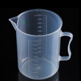 1000ml PP Plastic Flask Digital Measuring Cup Cylinder Scale Measure Glass Lab Laboratory Tools (Transparent)