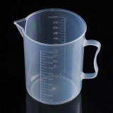 1000ml Thin Section PP Plastic Flask Digital Measuring Cup Cylinder Scale Measure Glass Lab Laboratory Tools (Transparent)