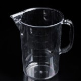 2000ml PP Plastic Flask Double Sided Digital Measuring Cup Cylinder Scale Measure Glass Lab Laboratory Tools (Transparent)