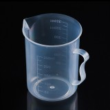 250ml Food Grade PP Plastic Flask Digital Measuring Cup Cylinder Scale Measure Glass Lab Laboratory Tools (Transparent)