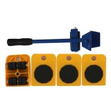 Heavy Furniture Home Trolley Lift And Move Slides Kit 4 Rollers & Furniture Lifter Mover Transport Set (Yellow)