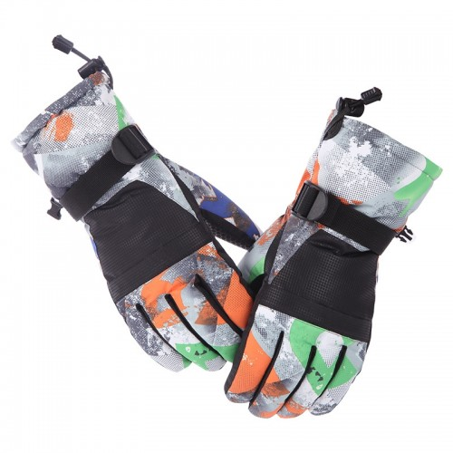 Protective Unisex Skiing Riding Winter Outdoor Sports Touch Screen Thickened Splashproof Windproof Warm Gloves, L