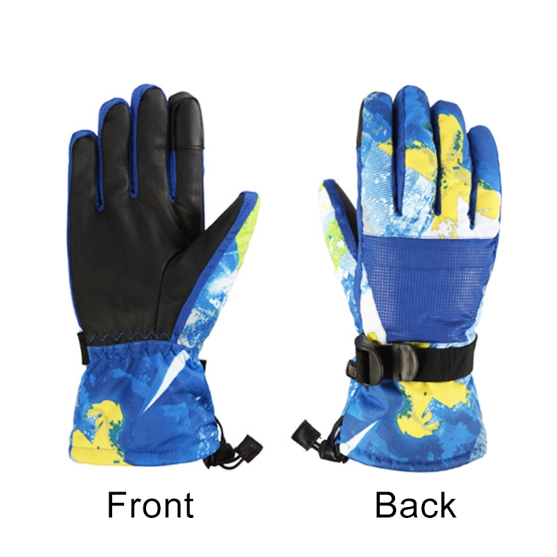 Protective Unisex Skiing Riding Winter Outdoor Sports Touch Screen Thickened Splashproof Windproof Warm Gloves, M