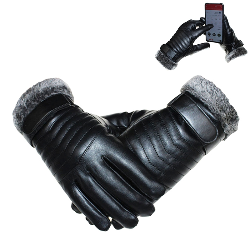 Protective Riding Winter Outdoor Sports Touch Screen Thickened Splashproof Windproof Warm Gloves for Male