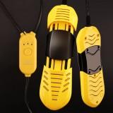 220V NANJIREN Household Scalable Timing Deodorization Shoe Dryer Boot Warmer (Black Yellow)