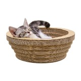 CP-090 Bowl-shaped Corrugated Paper Cat Scratch Board Cat Litter Grinding Claw Toy, Outer Diameter: 33.5cm