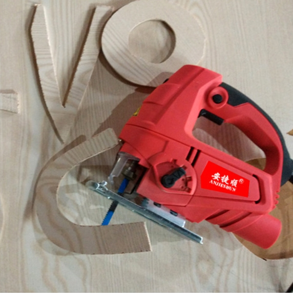 220V Jig Saw Electric Saw Woodworking Electric Tools Multifunction Chainsaw Hand Saws Wood Cutting Machine With Lase & 10 Saw Blader, EU plug