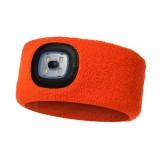 LED Headband Headlights Fishing Headlights Hunting Lights Night Fishing Headlights (Orange)