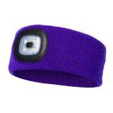 LED Headband Headlights Fishing Headlights Hunting Lights Night Fishing Headlights (Purple)