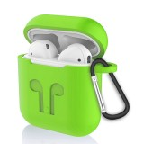 6 in 1 Earphone Bag + Earphone Case + Earphones Silicone Buckle + Earbuds + Anti-Drops Buckle + Anti-lost Rope Wireless Earphone Silicone Case Set for Apple Airpods (Green)