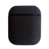 Sea Sand Texture Anti-lost Dropproof Wireless Earphones Charging Box Protective Case for Apple AirPods (Black)