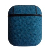 Sea Sand Texture Anti-lost Dropproof Wireless Earphones Charging Box Protective Case for Apple AirPods (Blue)