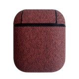 Sea Sand Texture Anti-lost Dropproof Wireless Earphones Charging Box Protective Case for Apple AirPods (Red)