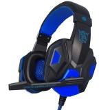 PLEXTONE PC780 Over-Ear Gaming Earphone Subwoofer Stereo Bass Headband Headset with Microphone (Black Blue)