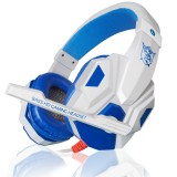 PLEXTONE PC780 Over-Ear Gaming Earphone Subwoofer Stereo Bass Headband Headset with Microphone (White Blue)