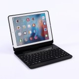 360 Degrees Rotation Bluetooth Keyboard + Horizontal Flip Leather Case with Holder & Colorful Backlight for iPad Pro 9.7 inch, iPad Air, iPad Air 2, iPad 9.7 inch (2017), iPad 9.7 inch (2018) (Black)