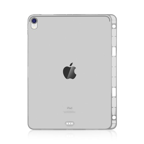 Highly Transparent TPU Soft Protective Case for iPad Pro 12.9 inch (2018), with Pen Slot (Transparent)