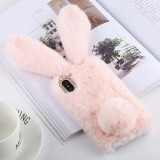 Cute Rabbit Ears Style Plush Case for iphone X/XS (Pink)