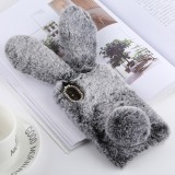 Cute Rabbit Ears Style Plush Case for iphone X/XS (Grey)