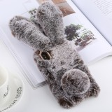 Cute Rabbit Ears Style Plush Case for iphone X/XS (Brown)