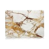 Beige White Gold Texture Marble Pattern Laptop Water Decals PC Protective Case for MacBook Pro 15.4 inch A1990 (2018)